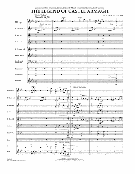 The Legend of Castle Armagh - Full Score