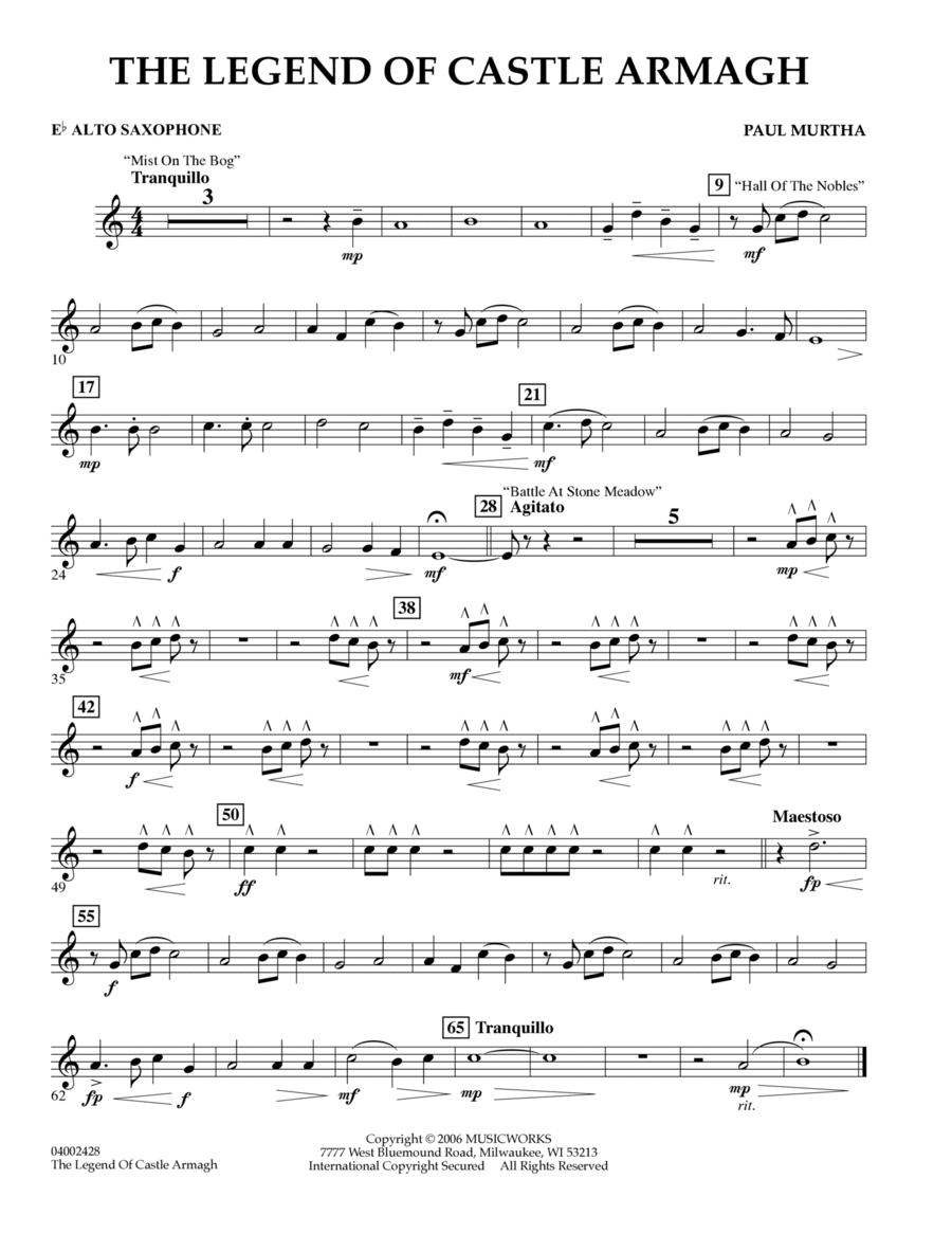 The Legend of Castle Armagh - Eb Alto Saxophone