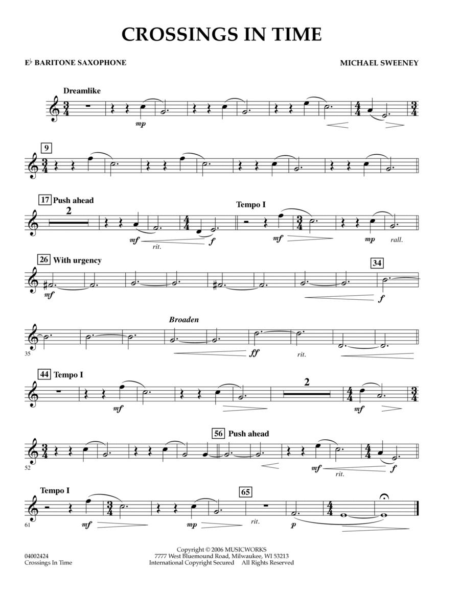 Crossings In Time - Eb Baritone Saxophone