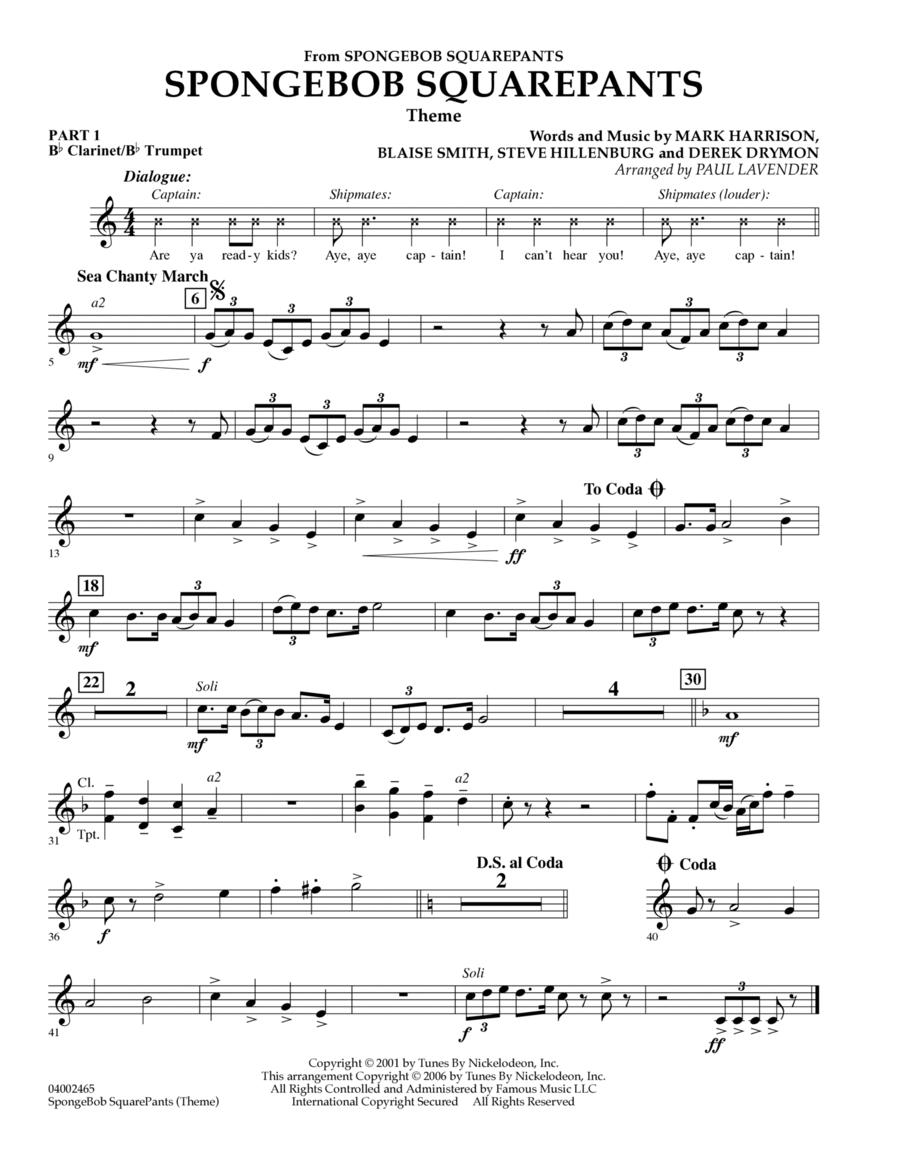 Spongebob Squarepants  (Flex-Band) - Pt.1 - Bb Clarinet/Bb Trumpet