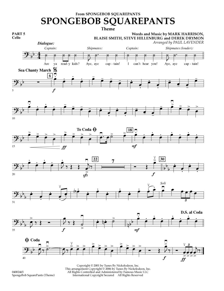 Spongebob Squarepants  (Flex-Band) - Pt.5 - Cello