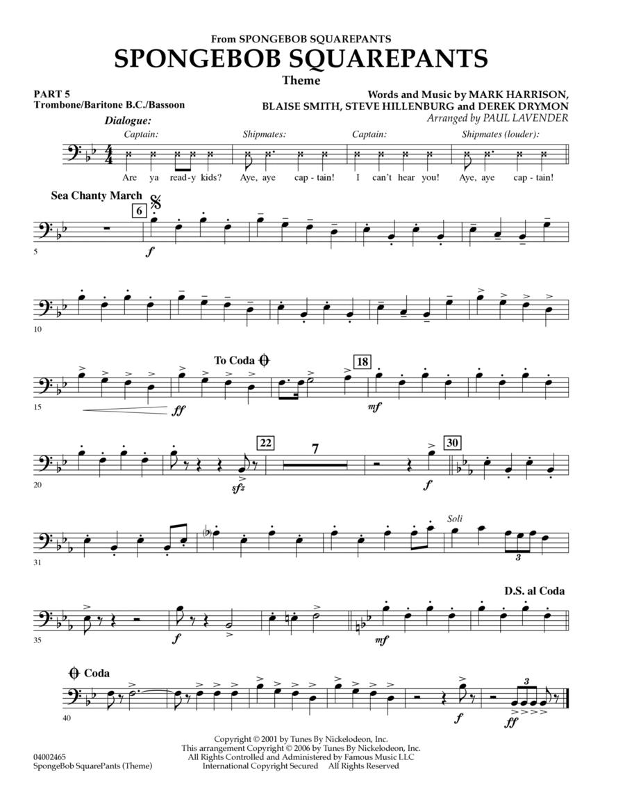 Spongebob Squarepants  (Flex-Band) - Pt.5 - Trombone/Bar. B.C./Bsn.