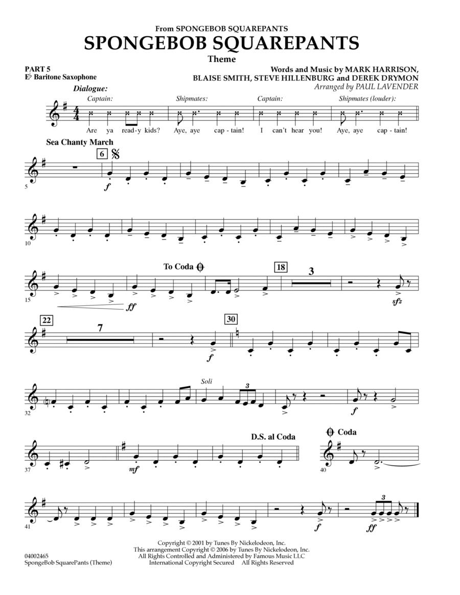 Spongebob Squarepants  (Flex-Band) - Pt.5 - Eb Baritone Saxophone