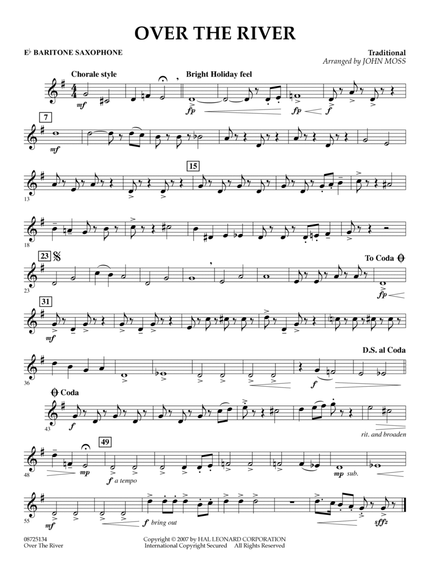 Over the River - Eb Baritone Saxophone
