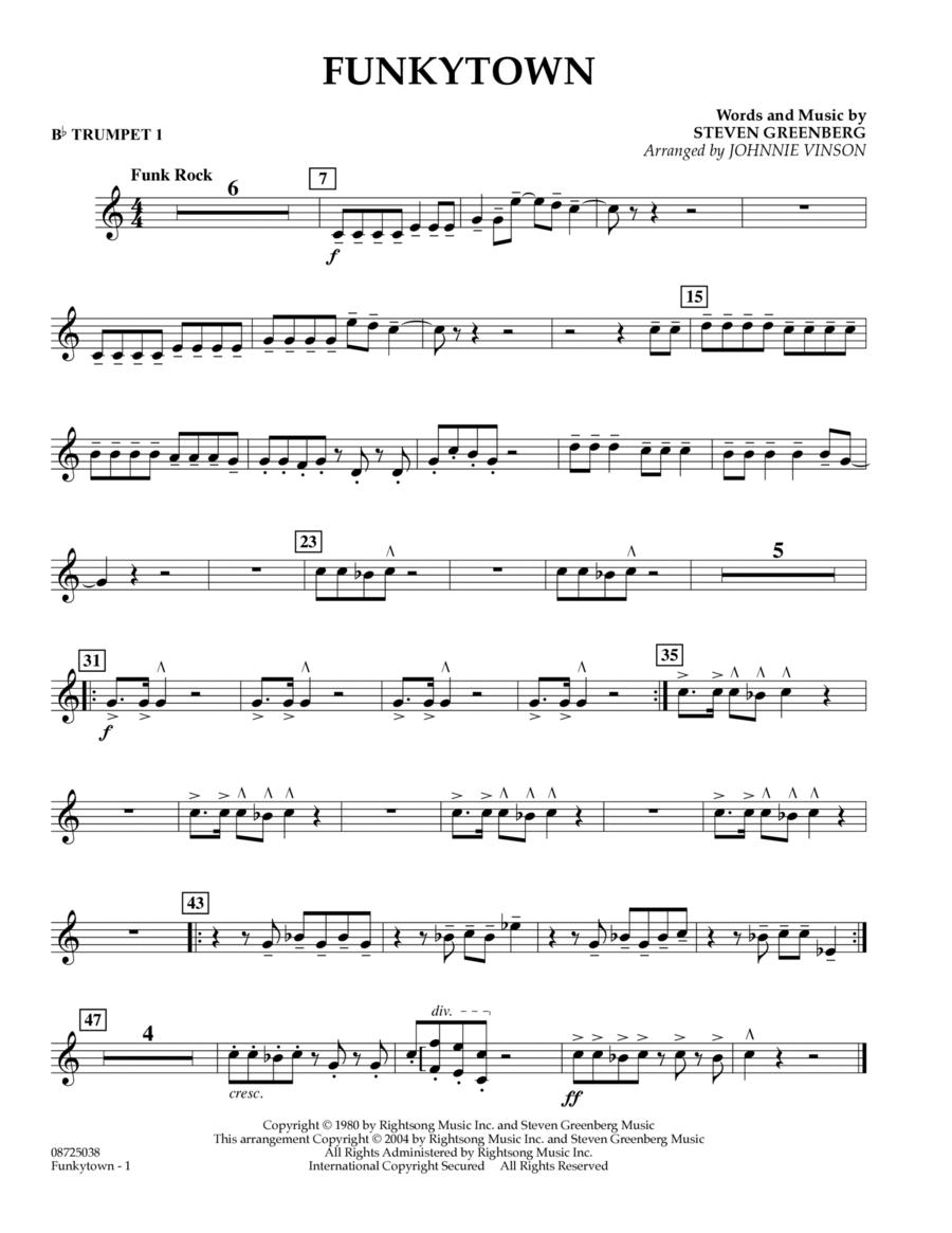 Funkytown - Bb Trumpet 1