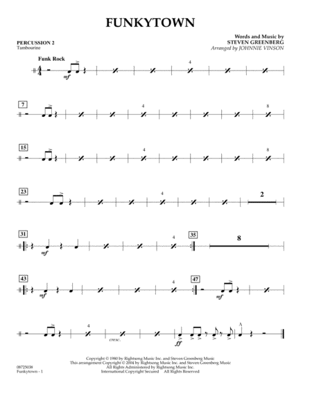 Funkytown - Percussion 2