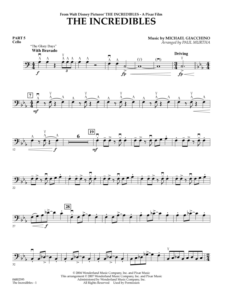 The Incredibles - Pt.5 - Cello