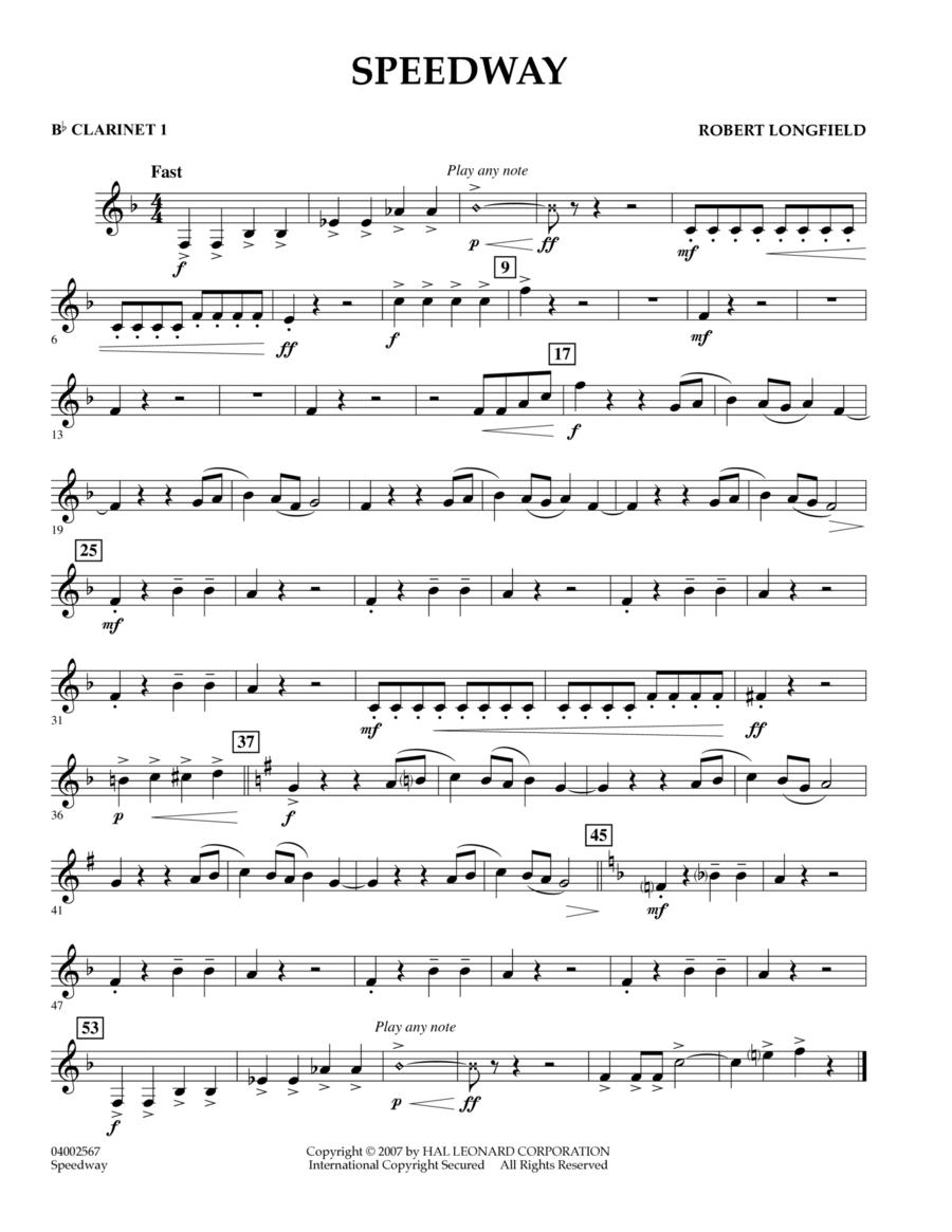 Speedway - Bb Clarinet 1