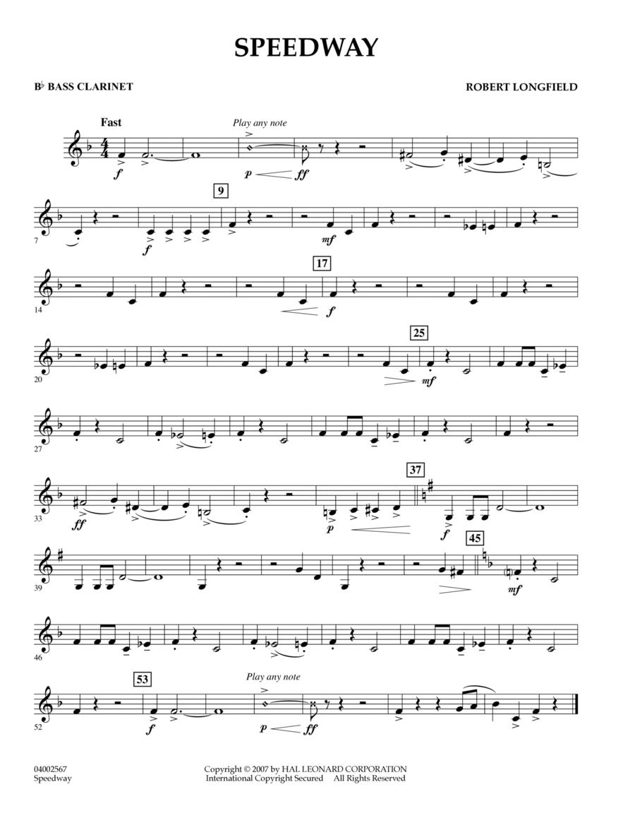 Speedway - Bb Bass Clarinet