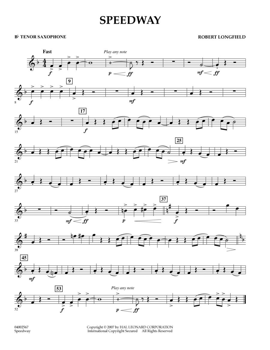 Speedway - Bb Tenor Saxophone