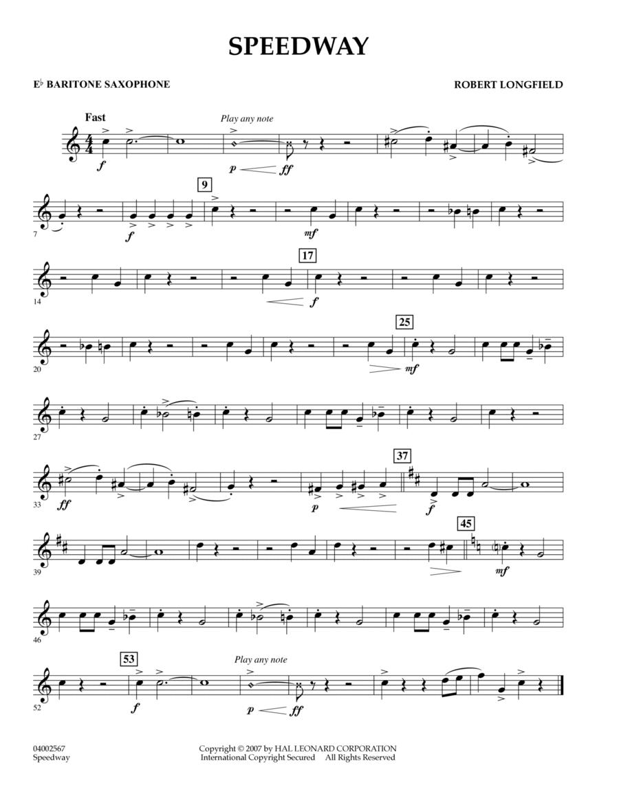 Speedway - Eb Baritone Saxophone