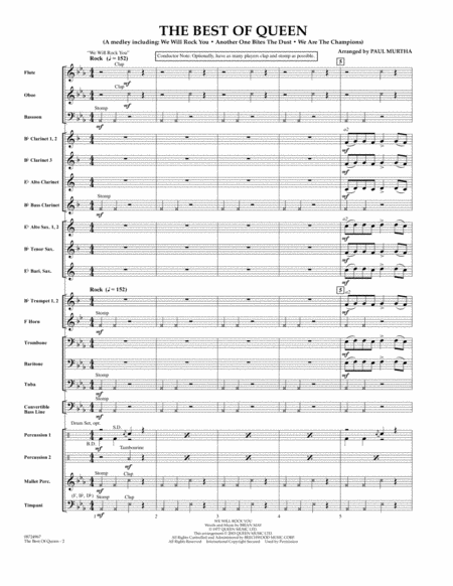The Best of Queen - Full Score