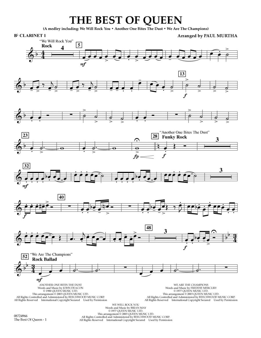 The Best of Queen - Bb Clarinet 1