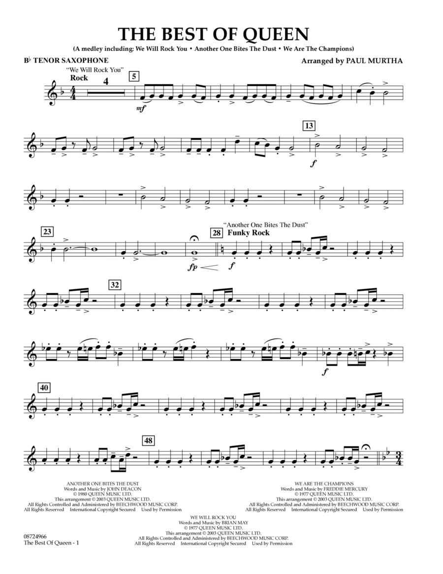 The Best of Queen - Bb Tenor Saxophone