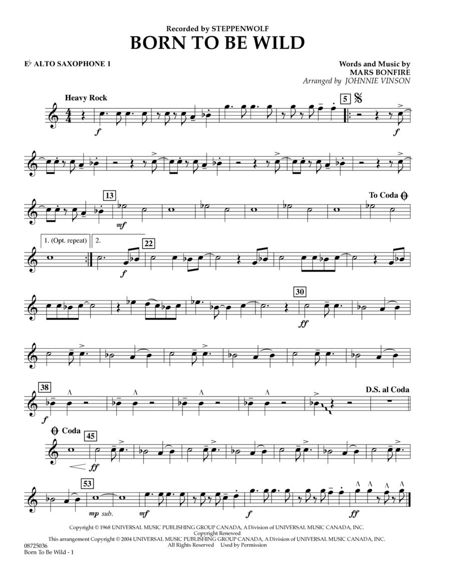 Born to Be Wild - Eb Alto Saxophone 1