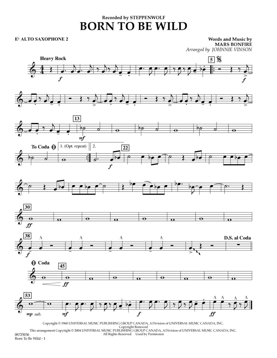 Born to Be Wild - Eb Alto Saxophone 2