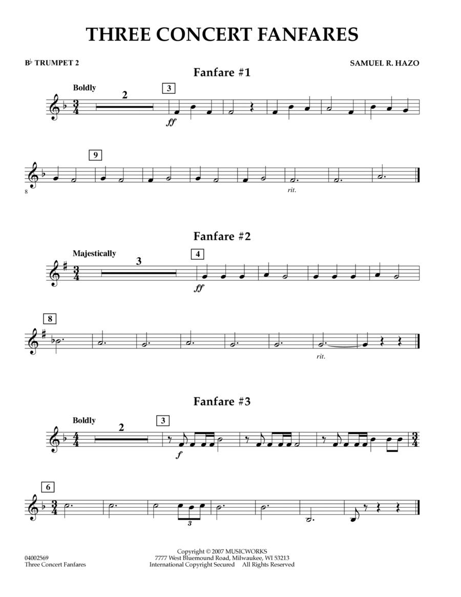Three Concert Fanfares - Bb Trumpet 2
