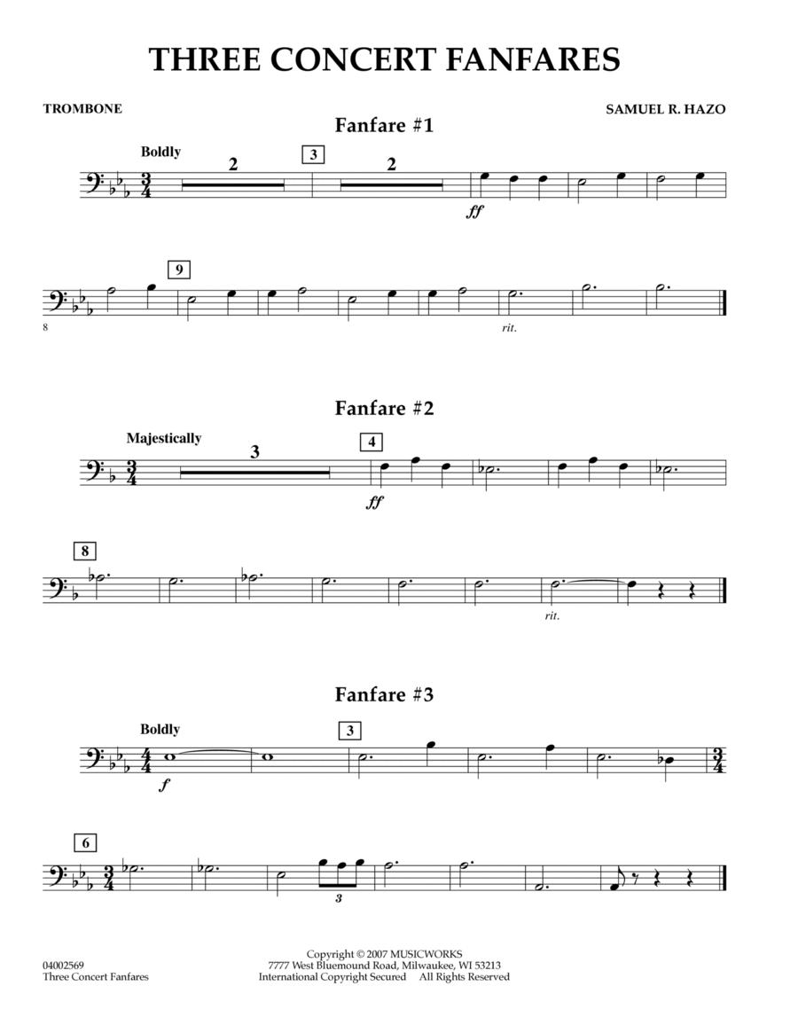 Three Concert Fanfares - Trombone
