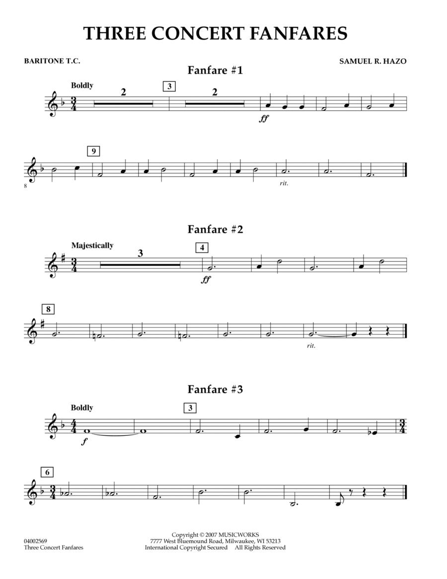 Three Concert Fanfares - Baritone T.C.
