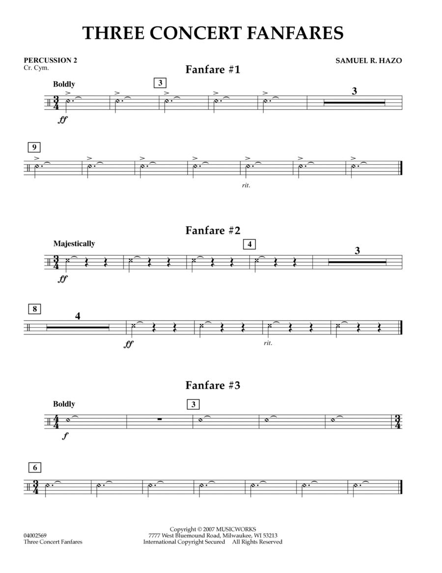 Three Concert Fanfares - Percussion 2