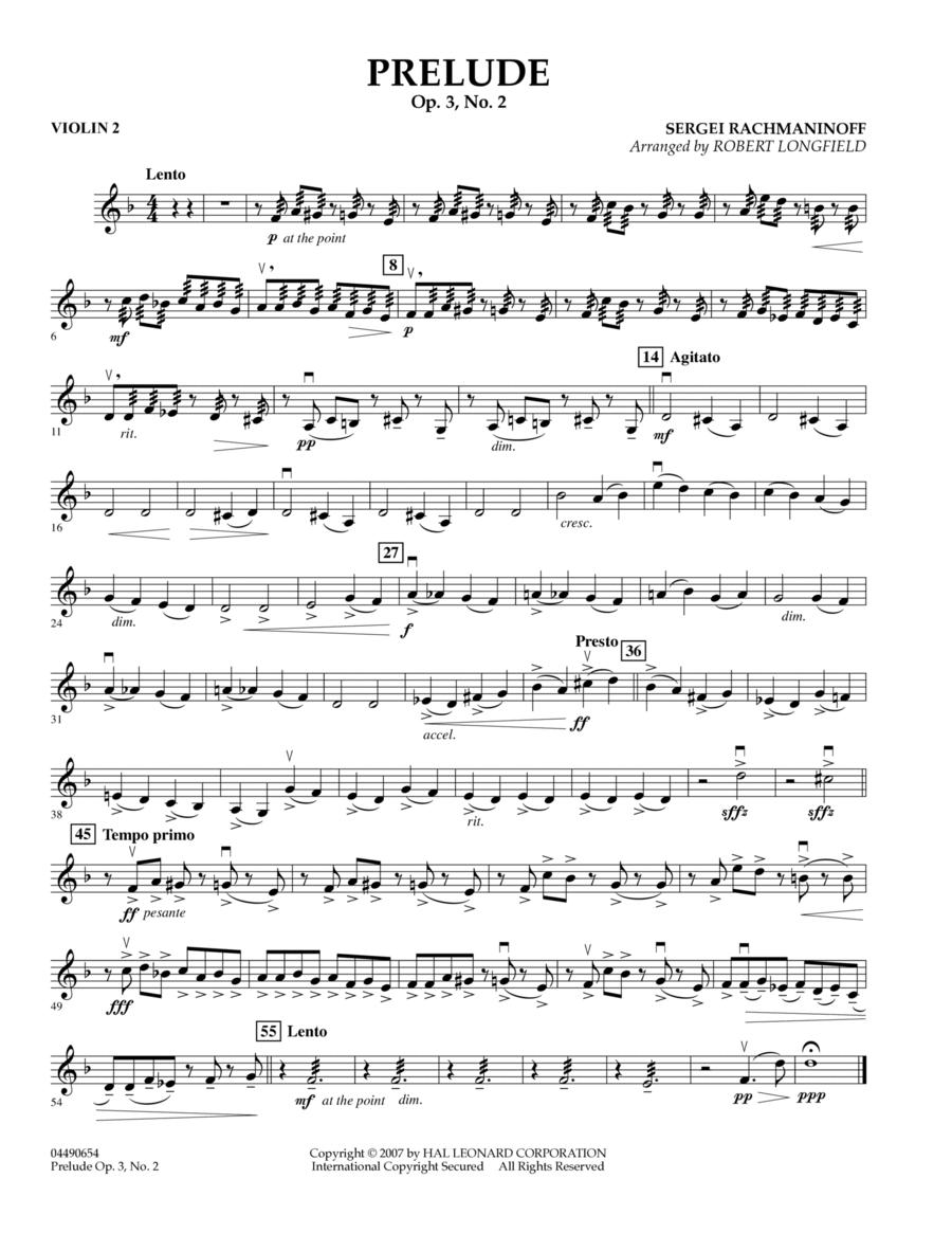 Prelude Op.3, No. 2 - Violin 2