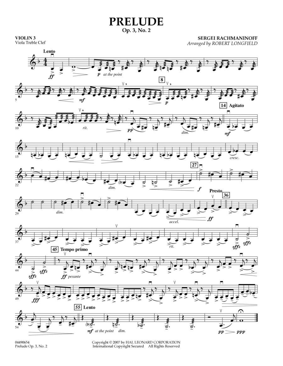 Prelude Op.3, No. 2 - Violin 3 (Viola T.C.)