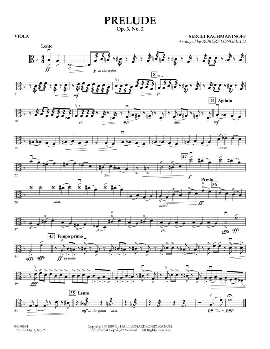 Prelude Op.3, No. 2 - Viola