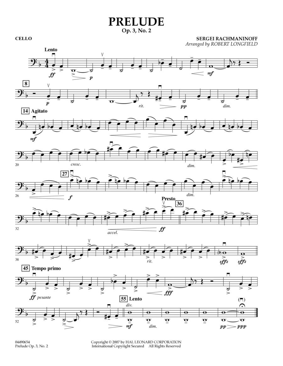 Prelude Op.3, No. 2 - Cello