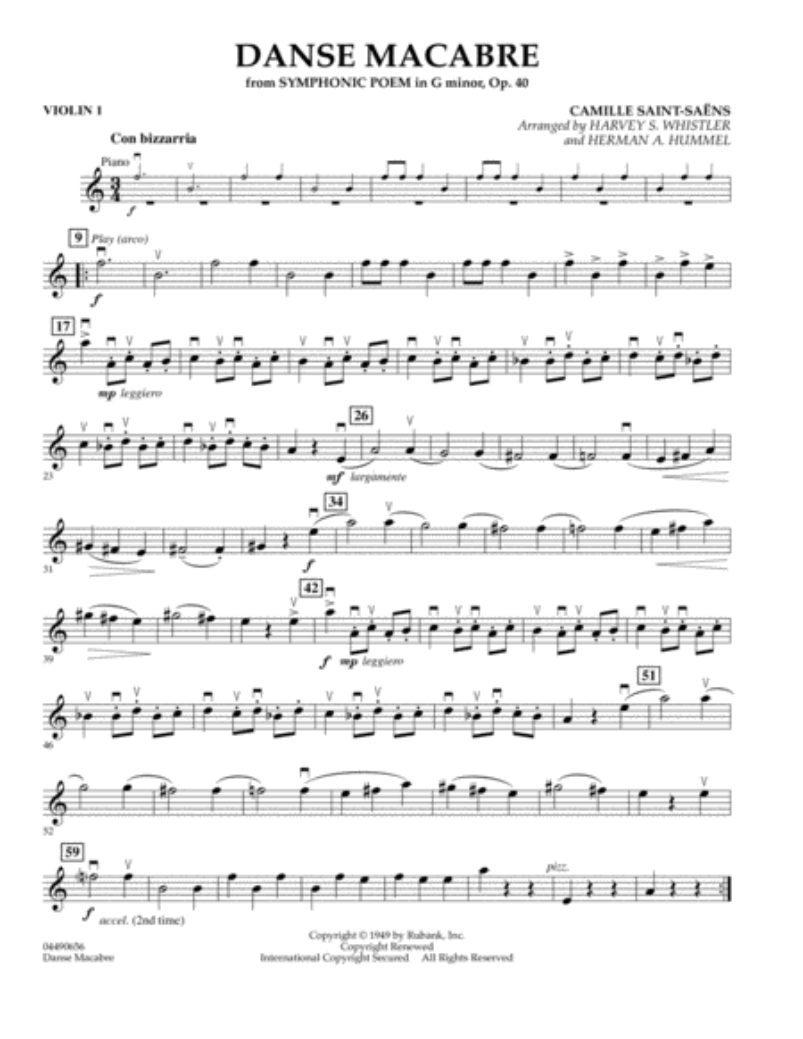 Danse Macabre - Violin 1