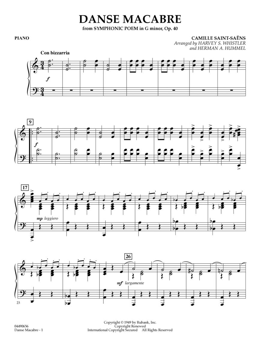 Danse Macabre - Piano