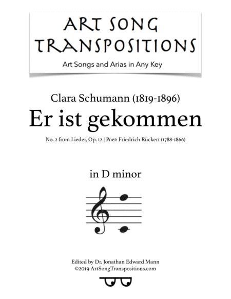 Er ist gekommen, Op. 12 no. 1 (D minor)