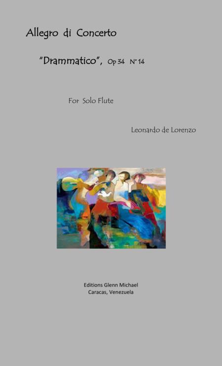 Lorenzo Allego di concerto Dramatico for solo flute