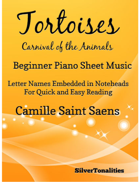 Tortoises Carnival of the Animals Beginner Piano Sheet Music