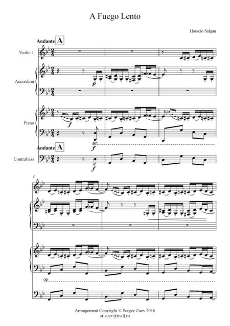 Salgan - A Fuego Lento (Quartet)
