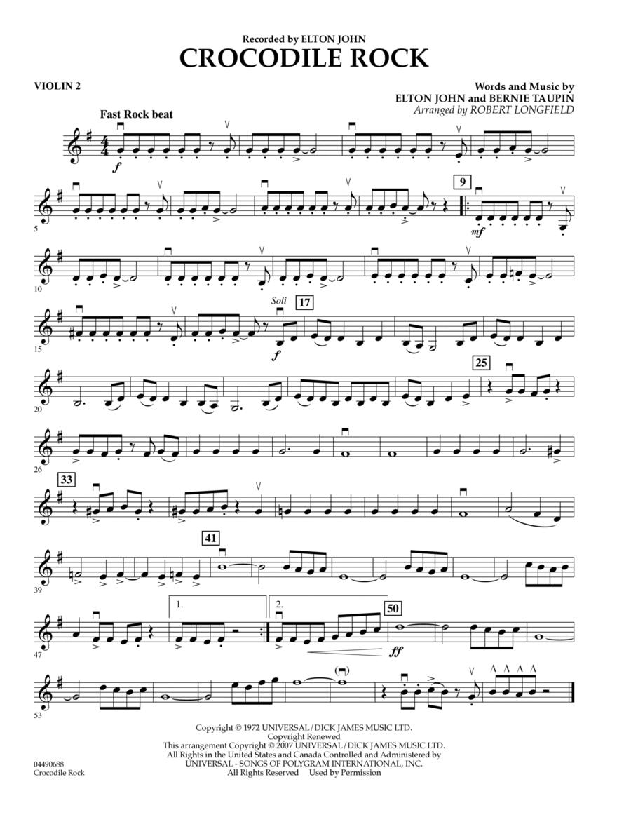 Crocodile Rock - Violin 2