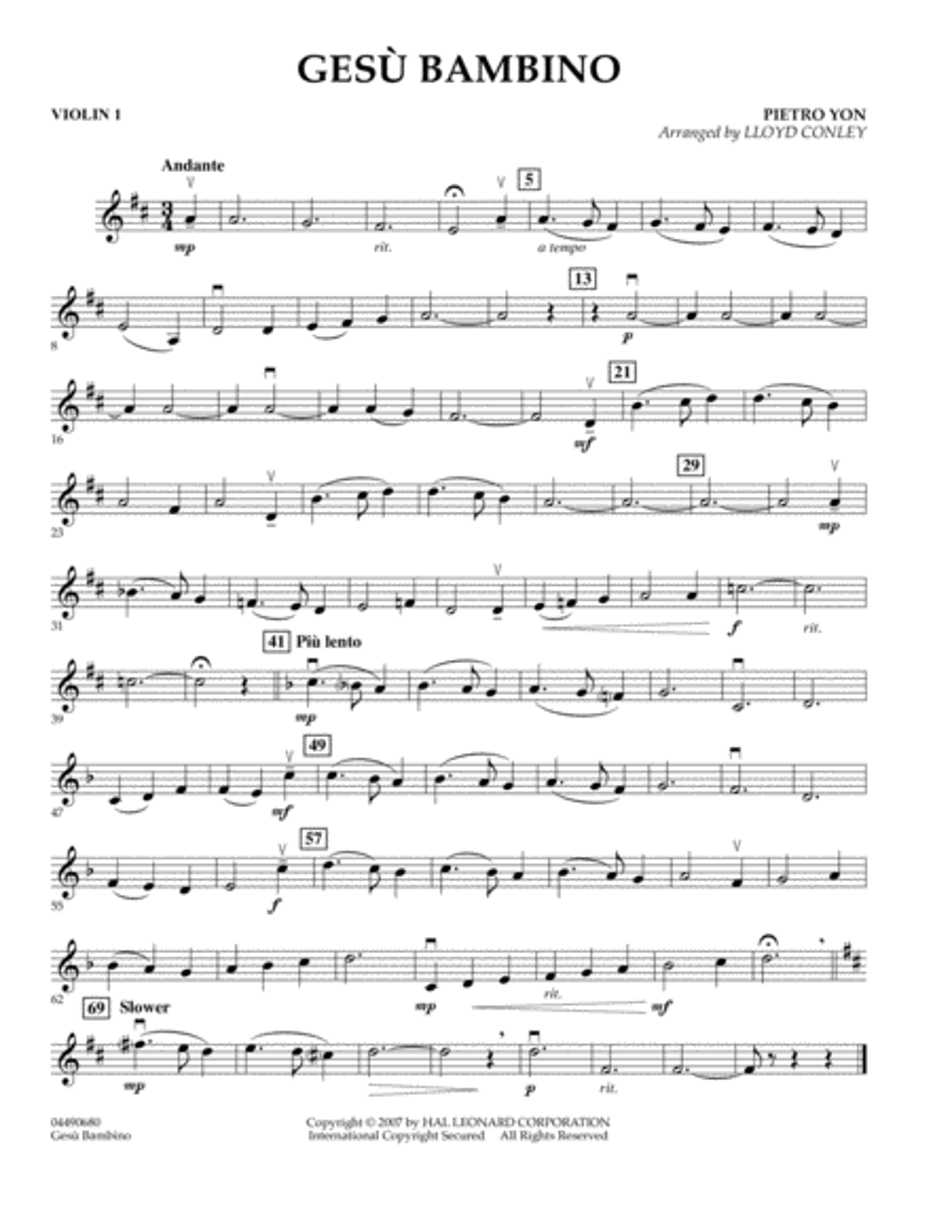Gesu Bambino - Violin 1