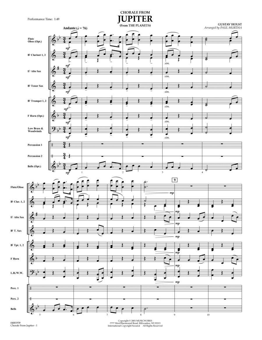 Chorale from Jupiter - Full Score