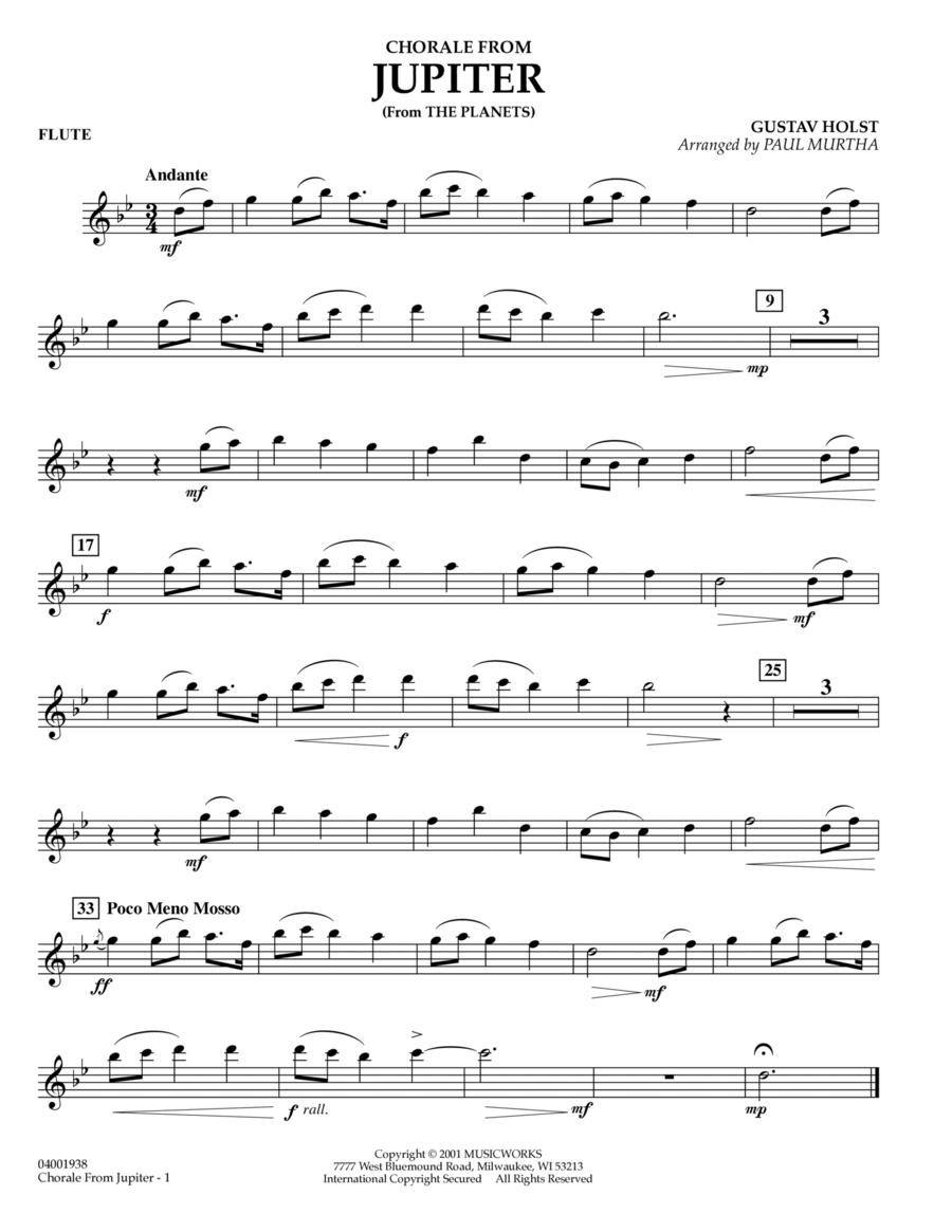 Chorale from Jupiter - Flute