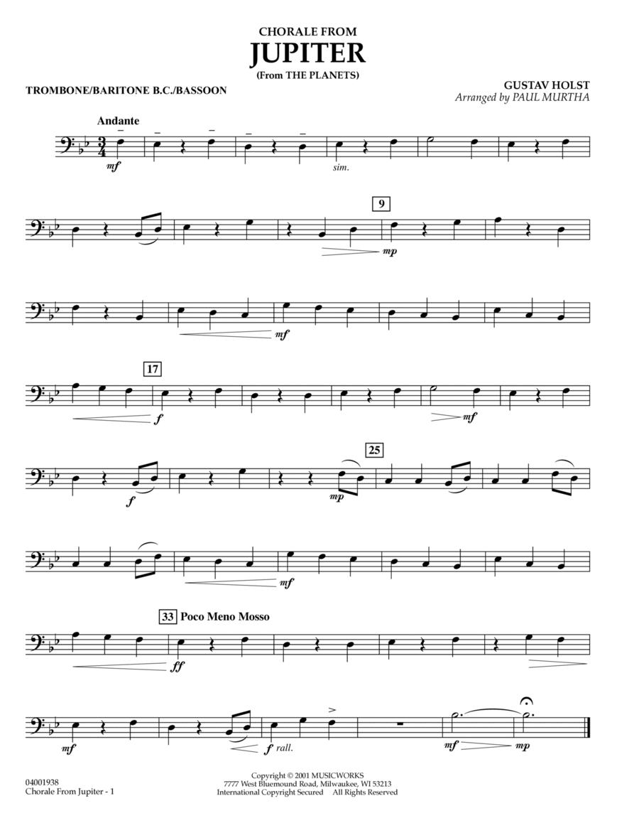 Chorale from Jupiter - Trombone/Baritone B.C./Bassoon
