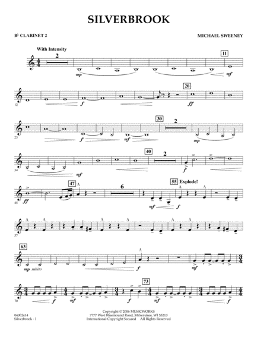 Silverbrook - Bb Clarinet 2