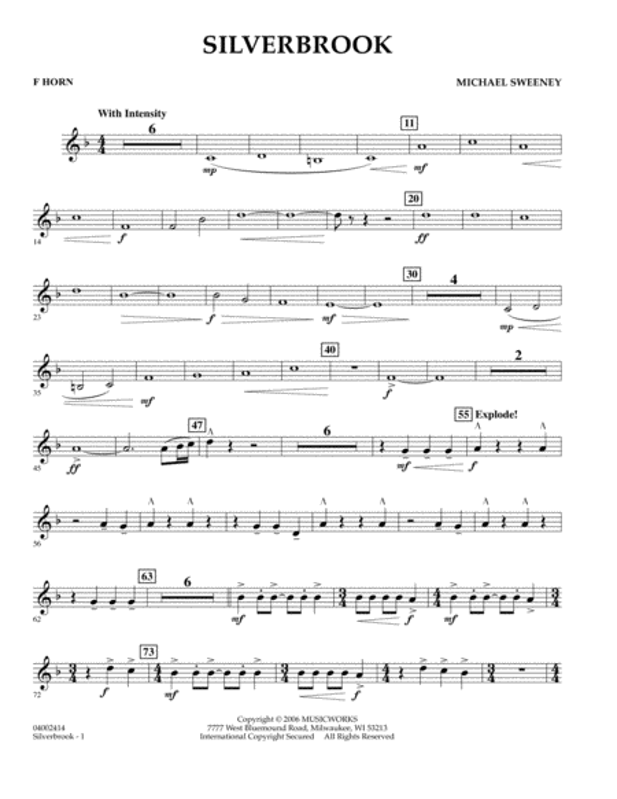 Silverbrook - F Horn