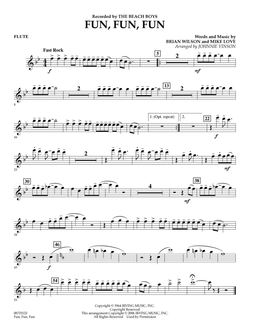 Fun, Fun, Fun - Flute