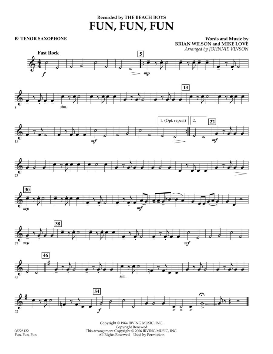 Fun, Fun, Fun - Bb Tenor Saxophone
