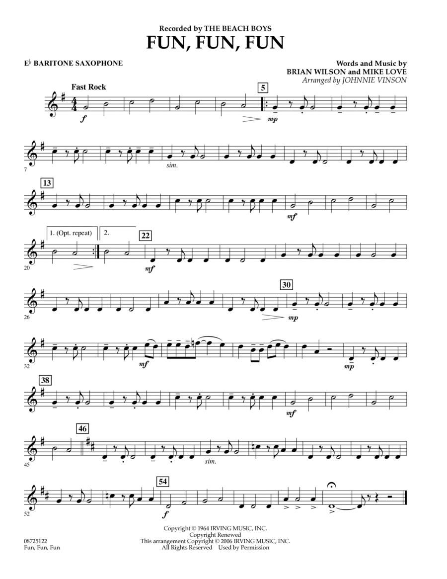 Fun, Fun, Fun - Eb Baritone Saxophone