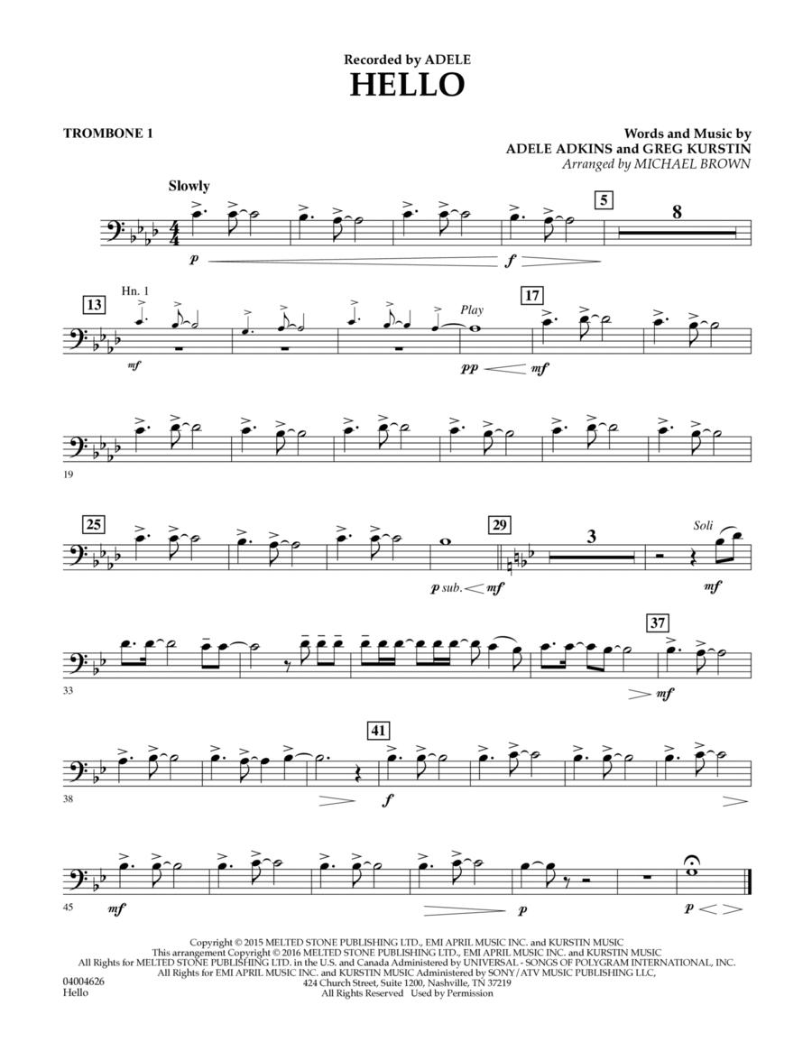 Hello - Trombone 1
