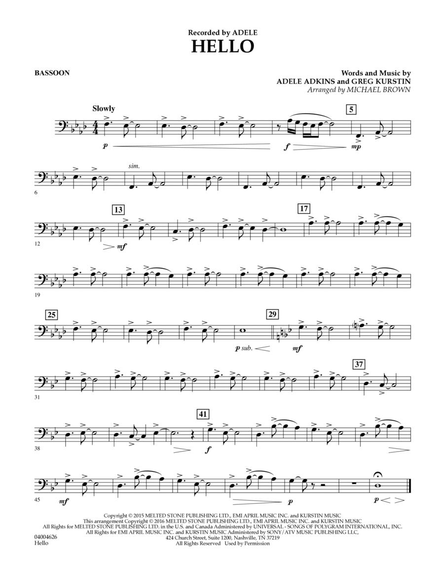 Hello - Bassoon