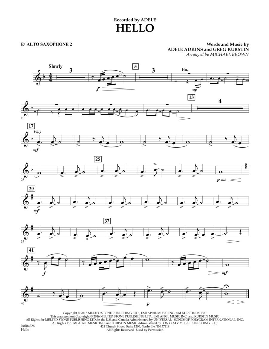 Hello - Eb Alto Saxophone 2