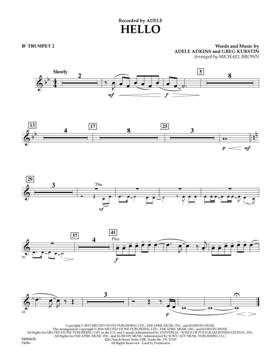 Hello - Bb Trumpet 2