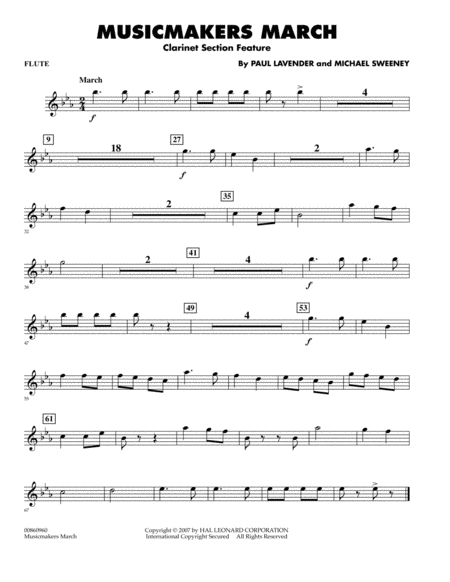Musicmakers March (Clarinet Section Feature) - Flute