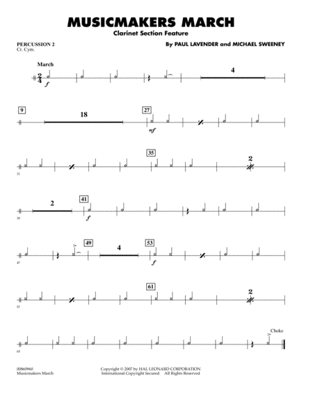 Musicmakers March (Clarinet Section Feature) - Percussion 2
